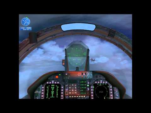 FSX Flight Simulator X F18 Carrier Landing IMC mission - HD TrackIr 5