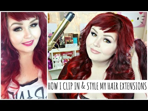 How I Clip In & Style My Hair Extensions | VP Fashion