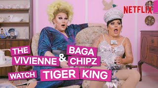 Drag Queens Baga Chipz and The Vivienne React To Tiger King | I Like To Watch UK Ep3