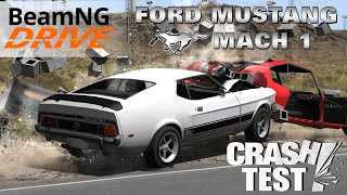 BeamNG Drive Ford Mustang Mach 1 Crash Test