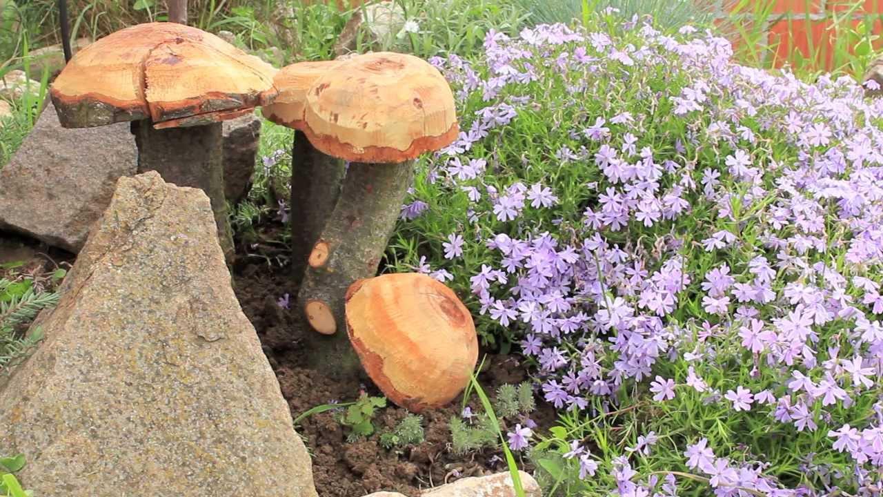 Gljiva vrtni ukras - YouTube