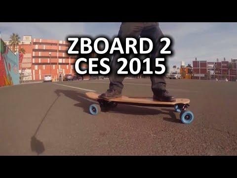 ZBoard 2 Blue Next Gen Electric Skateboard - CES 2015