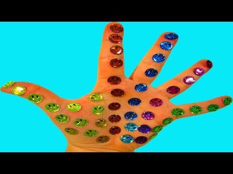 Учим цвета с смайликами Песня про пальчики Семья пальчики Красный пальчик где же ты Цветные смайлики