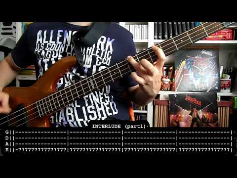 JUDAS PRIEST - Breaking the law (bass cover w/ Tabs)