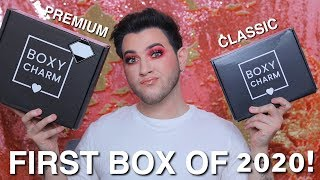 BOXYCHARM PREMIUM vs CLASSIC! Worth the Upgrade or NAH? January Unboxing 2020