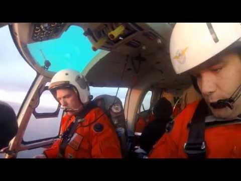 Prefectura realizó una aeroevacuación en mar comodorense