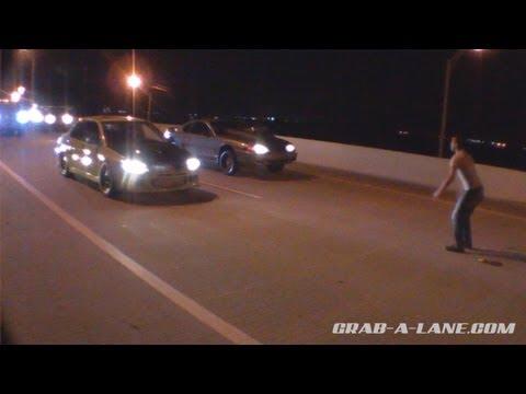 765awhp EVO vs Built Nitrous Mustang - $$ Street Race (SlimeGreenEvo v