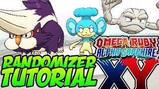 How to RANDOMIZE Pokémon Omega Ruby, Alpha Sapphire, X and Y! Gen 6 RANDOMIZER Tutorial!