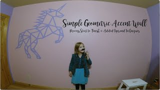 Paint With Me - Simple One Colour Geometric Accent Wall Tutorial