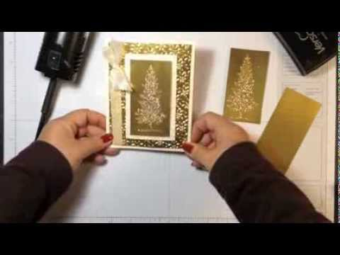 Stampin' Up! Video Tutorial Christmas Card Idea  Lovely As A Tree in Gold