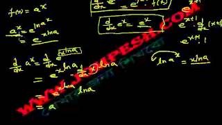 ক্যালকুলাস - অন্তরীকরণ (Differentiation) পাঠ ৬ : ax এর অন্তরক সহগ