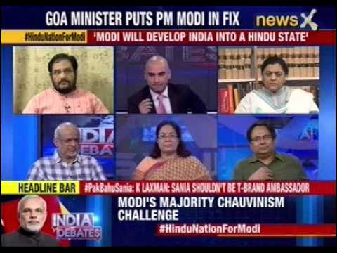 India debates: BJP government's Goa Minister puts PM in fix
