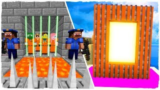 HOW TO MAKE A PORTAL TO THE JAIL DIMENSION - MINECRAFT PRISON ESCAPE