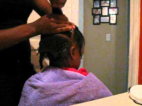 Simple little girls hair style for natural curly hair!