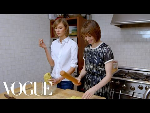 How To Bake Oatmeal Scones With Karlie Kloss and Elettra Wiedemann -- Elettra's Goodness -- Vogue