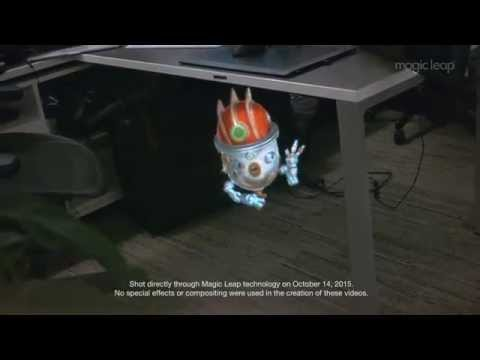 First real footage released from Magic Leap, the mysterious visual technology company Google invested over $500 million dollars in