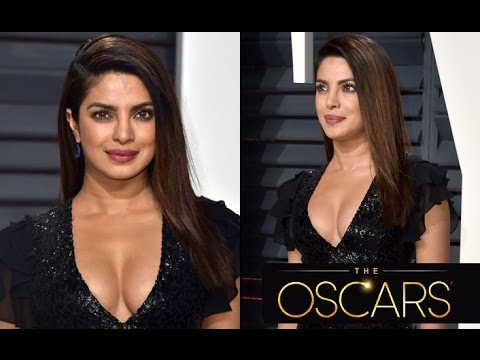 Hot & Sexy! Priyanka Chopra In A Lovely Black Gown At Oscars After-Party