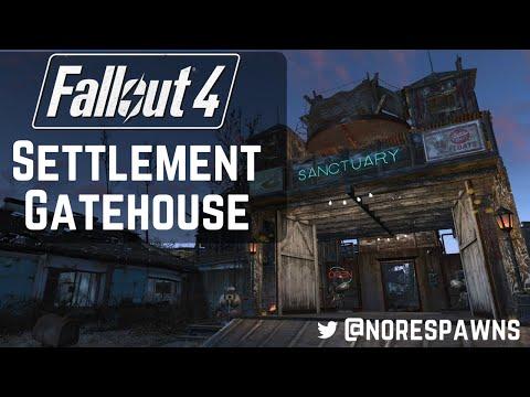 Fallout 4 Far Harbor - Settlement Gatehouse (Barn Build)