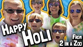 Happy Holi 2018 from 2 in a Zoo! (March 3, 2018)