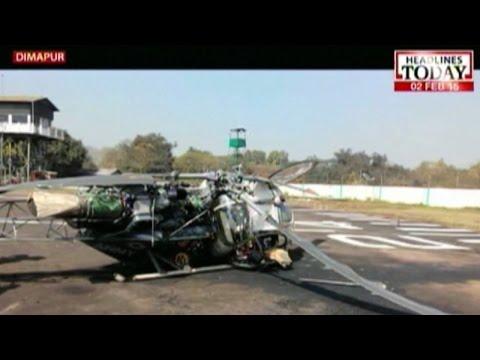 Indian Army chopper crash-lands in Dimapur