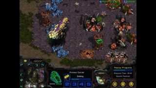 Berkeley Overmind (Zerg) vs. XIMP bot (Protoss) [AI bots]