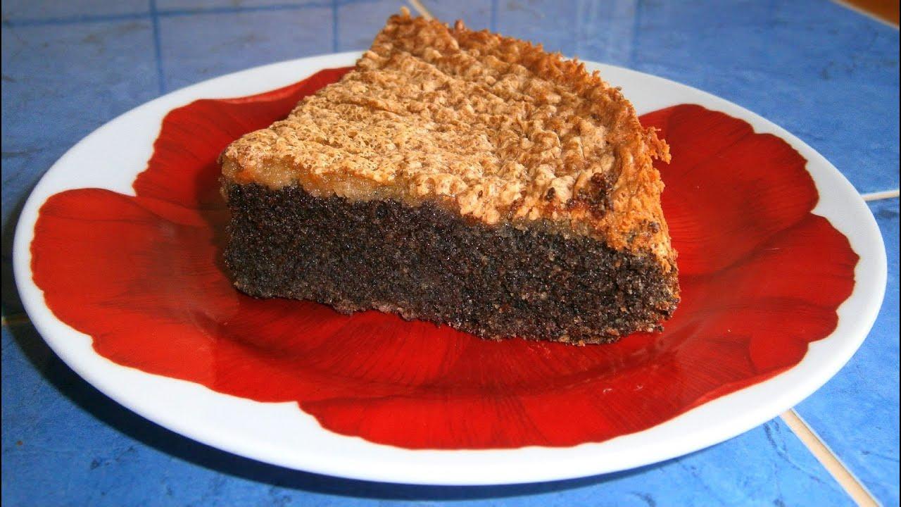 Маковый пирог без муки рецепт с пошаговым фото