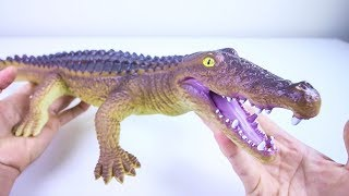 Cutting Open a Giant Crocodile Toy! What's inside?? Soft Squishy Animal Surprises!
