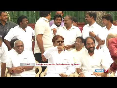 DMDK leader Vijayakanth threatens Jaya TV Reporter