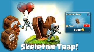 Clash of Clans Update - Skeleton Trap World Premiere! First LIVE footage!