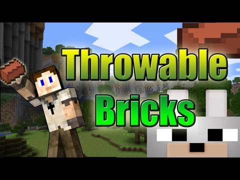 Minecraft Mods - Throwable Bricks 1.3.2 Review ( Channel Update Info )