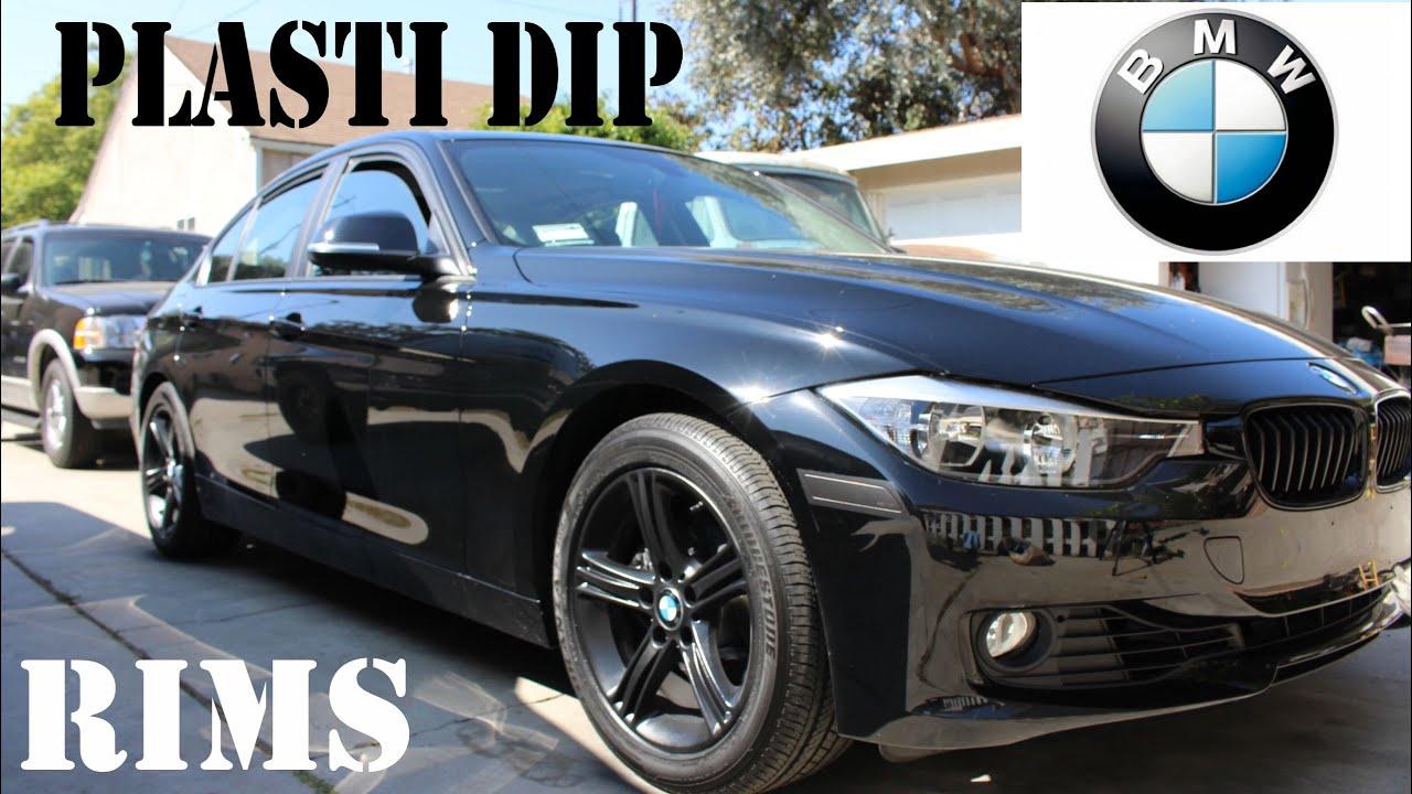 2014 Bmw 328i Plasti Dip Rims With Glossifier Diy Youtube