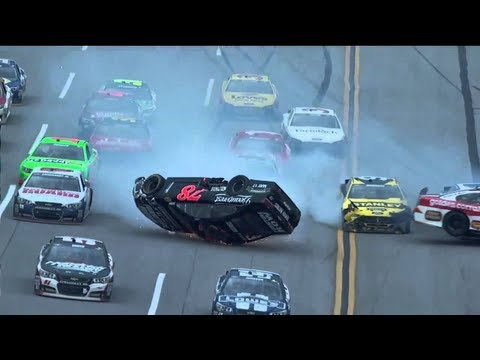 NASCAR Crashes 2: http://www.youtube.com/watch?v=yj__WIAAWG8 None of the drivers in this video died in any of these accidents. Here is a video showing a hand...