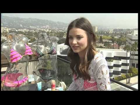 Miranda Kerr talks being thin, as she struts her stuff in Victoria's Secret range