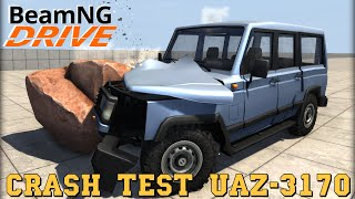 BeamNG DRIVE mod crash test SUV UAZ 3170