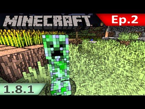 Tackle⁴⁸²⁶ Minecraft (1.8.1) #2 - นินจา Creeper(มันมาจากไหนแหวะ)