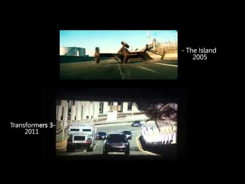 Auto Plagiarism: Michael Bay The Island (2005)-Transformers Dark Of The Moon(2011).mp4