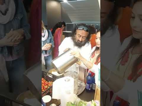 Sri sri prepares n tells importance of CURD RICE