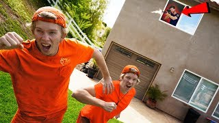 RACE to Escape the Prison Sniper!! *EXTREME OBSTACLE COURSE*