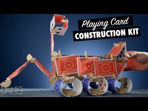 Skallops: Build structures with playing cards