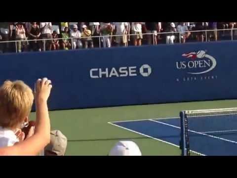 CiCi Bellis serves upset victory to Dominika Cibulkova!  US Open 2014