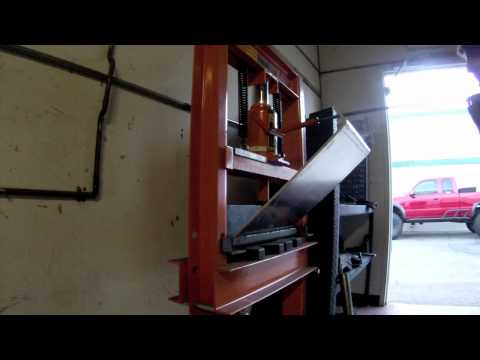 Bending with the Swag Offroad 20 ton press brake