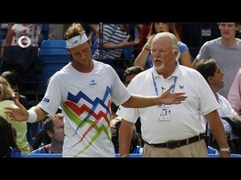 Теннис - Налбандян разбушевался