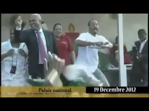 Haitian President Joseph Martelly Doing the Gangnam Style In National Palace