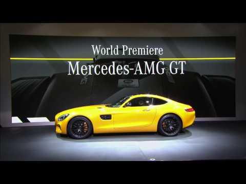 World premiere 2016 Mercedes-AMG GT Affalterbach Germany