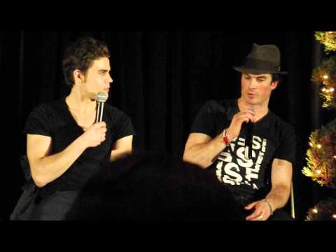 Paul Wesley & Ian Somerhalder on stage - the Vampire Diaries Convention Orlando 12/15/2013