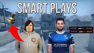 CS:GO - SMARTEST PRO PLAYS #1 (200 IQ) ft. FalleN, shox, Dosia, autimatic & More
