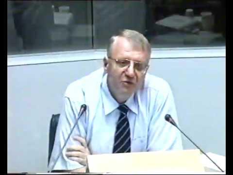 Saslušanje Vojislava Šešelja u Hagu o ubistvu Zorana Đinđića 4.8.2003. 1deo