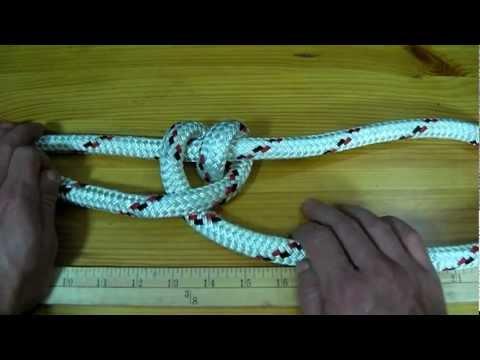 Видео как завязывать узлы