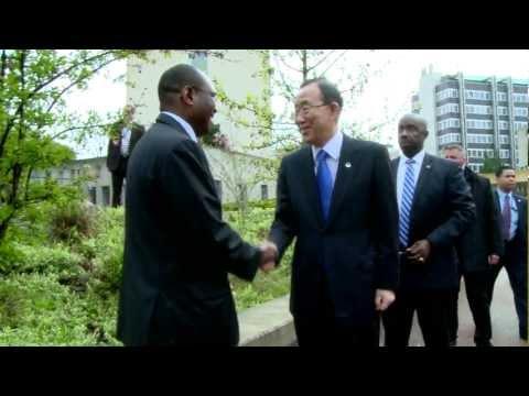 UN Secretary-General and UN Heads meet in a paper-smart environment at ITU, Geneva.