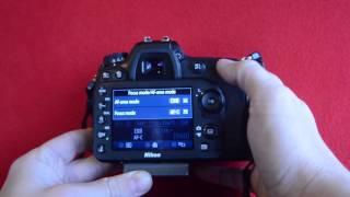 AF Auto Focus on the Nikon D7200